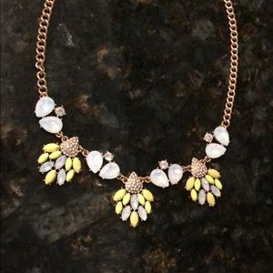 J.Crew Chunky necklace (green/yellow) neon